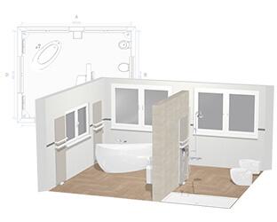 32fae3f850cc Planificador de baño 3D: Diseñe el cuarto de baño de sus sueños ...