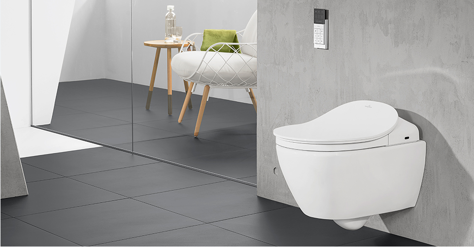 asientos de inodoro con lavado de villeroy boch. Black Bedroom Furniture Sets. Home Design Ideas