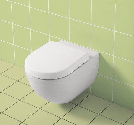 Gr/ünblatt Asiento de inodoro compatible con Villeory /& Boch Subway descenso autom/ático y extra/íble para la limpieza compatible con fijaci/ón SupraFix Subway 2.0 . material Duroplast color blanco